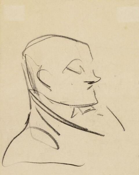 Heinrich Zille - Männerkopf. Göre. Spaziergänger