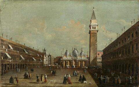 Venetian School, late 18th century - SAINT MARK´S SQUARE IN VENICE