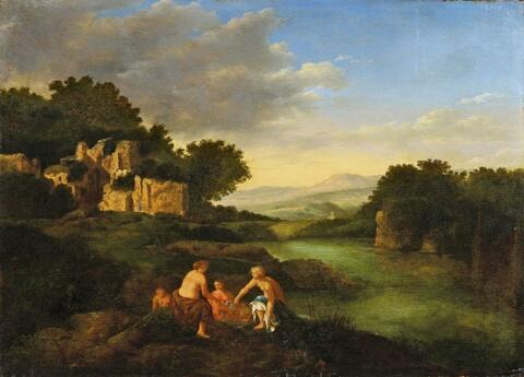 Cornelis van Poelenburgh - LANDSCHAFT MIT BADENDEN NYMPHEN