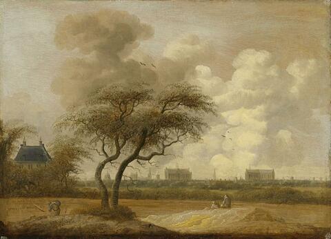 Jacob van der Croos - LANDSCAPE WITH VIEW ON LEIDEN