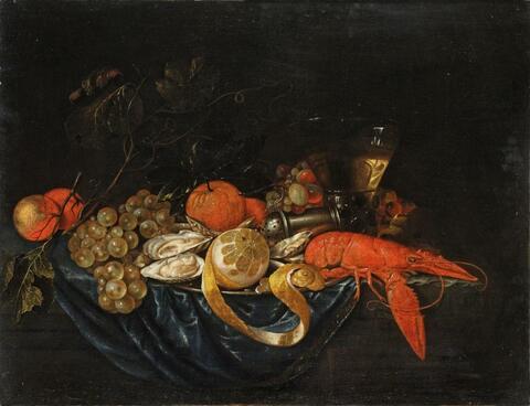 Cornelis de Heem, Umkreis - STILLLEBEN MIT HUMMER UND ZITRONE