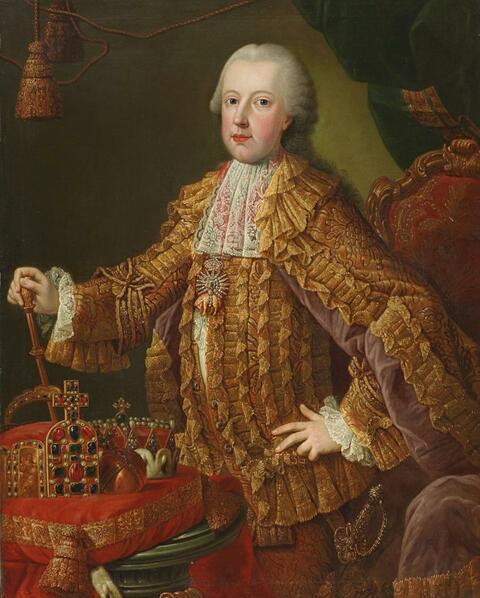 Martin van Meytens, workshop or circle of - PORTRAIT OF KAISERS FRANZ I. STEPHAN OF LORRAIN