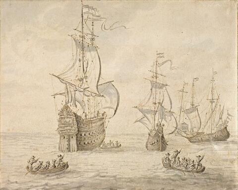 Abraham Storck - SAILING SHIPS AND BOATS