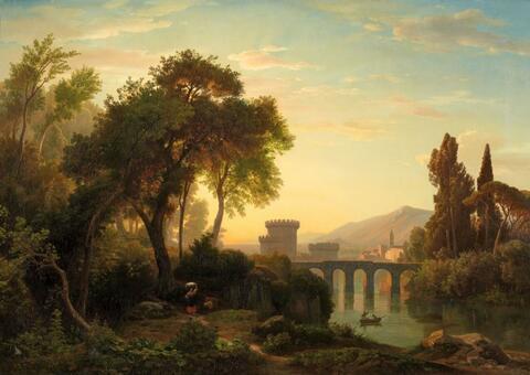 Johann Wilhelm Schirmer - ITALIAN LANDSCAPE