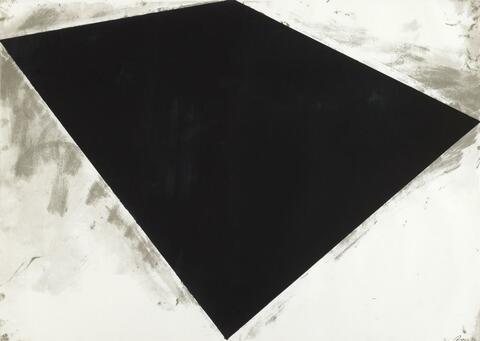Richard Serra - Ohne Titel (or Philipp Glass poster)