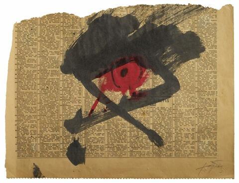 Antoni Tàpies - Material Glance Series No. 5