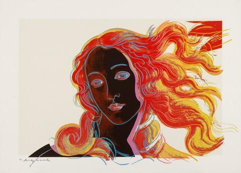 Andy Warhol - Details of renaissance paintings (Sandro Botticelli, Birth of Venus, 1482)
