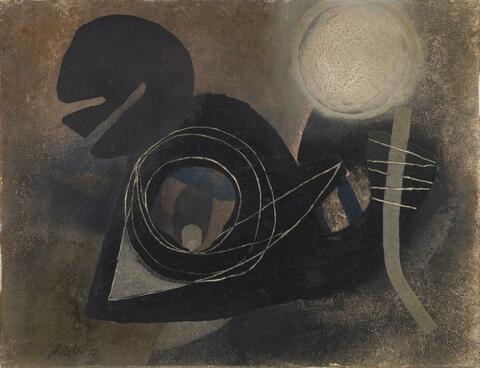 Fritz Winter - Ohne Titel (Um Dunkel Kreisend)