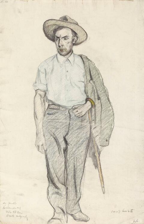 Lovis Corinth - Mann mit Schlapphut
