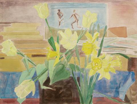 Erich Heckel - Gelbe Blumen