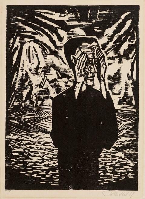 Erich Heckel - Mann in der Ebene