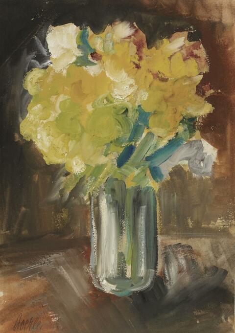 Heinrich Hoerle - Blumenstrauß in einer Glasvase