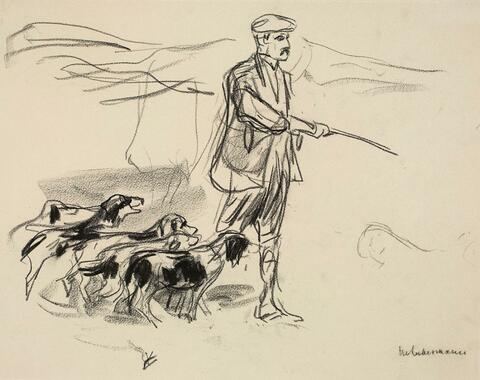 Max Liebermann - Jäger in den Dünen - Hundetrainer (Hunter in the Dunes - Dog Trainer)