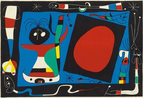 Joan Miró - Femme au Miroir