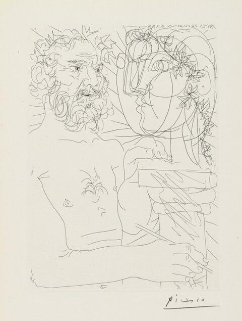 Pablo Picasso - Vieux Sculpteur au travail. II