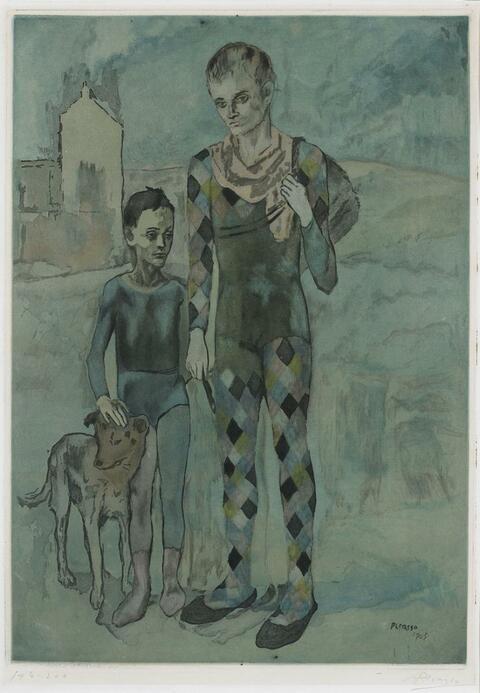 Nach Pablo Picasso - Les Saltimbanques