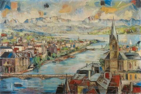 Eberhard Viegener - Zürich mit Frauenmünster