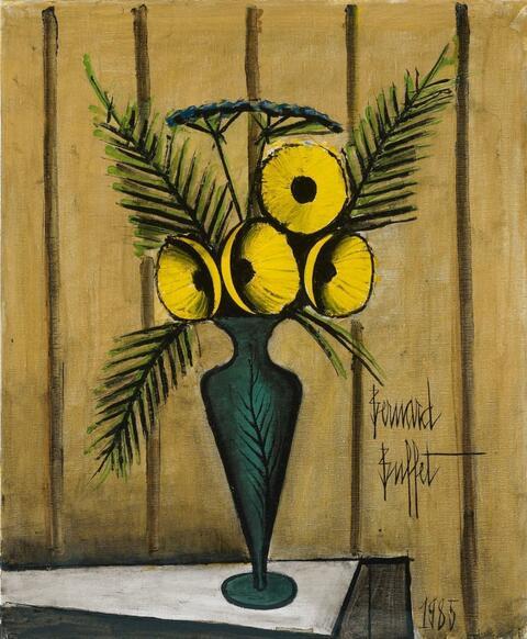 Bernard Buffet - Bouquet de Fleurs Jaunes