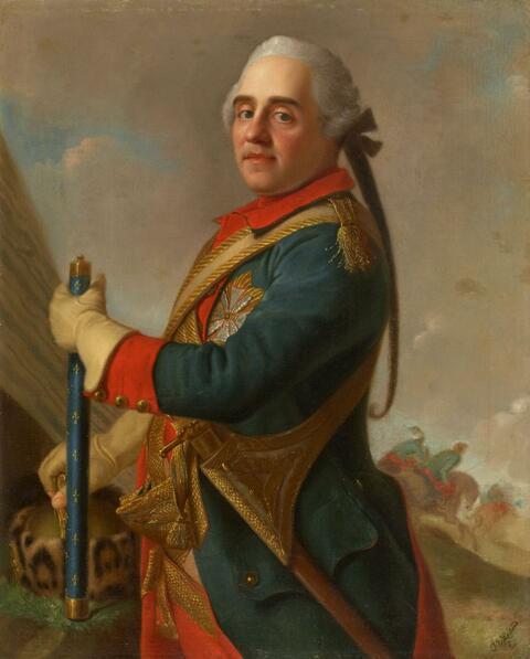 Jean Etienne Liotard, Umkreis - BILDNIS DES MORITZ VON SACHSEN, LE MARÉCHAL DE SAXE