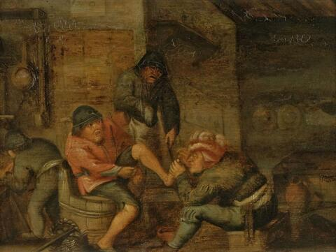 Adriaen van Ostade, follower of - INTERIOR WITH A SURGERY