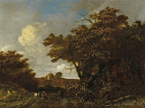 Jacob Isaacksz van Ruysdael, Nachfolge - LANDSCHAFT MIT JÄGERN