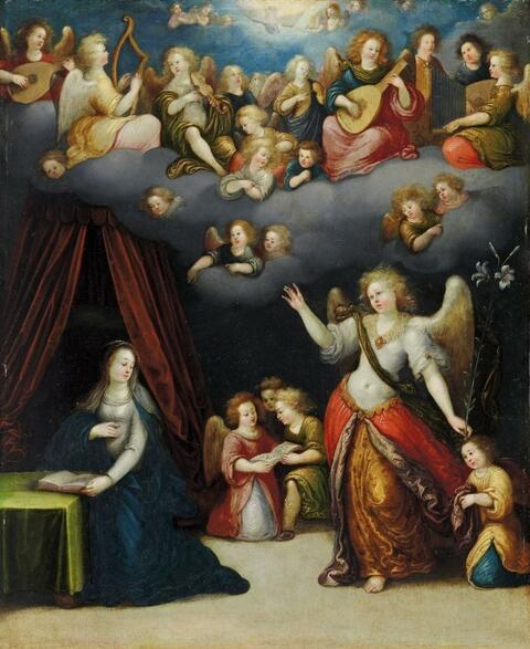 Süddeutscher Meister des frühen 17. Jahrhunderts - VERKÜNDIGUNG AN MARIA