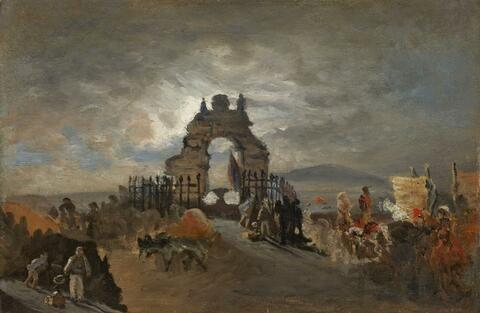 Oswald Achenbach - THE FONTANA DI S. LUCIA IN NAPLES