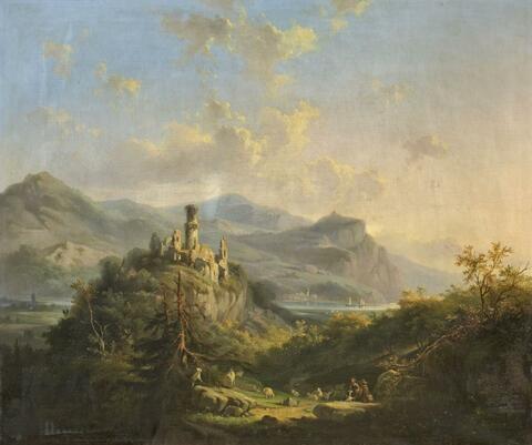 Deutscher Künstler des 19. Jahrhunderts - ANSICHT DER GODESBURG
