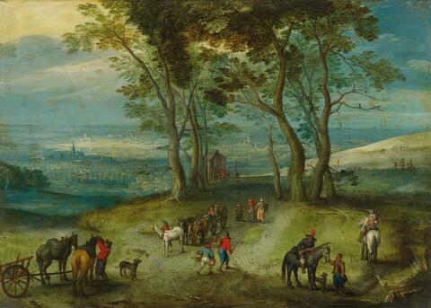 Jan Brueghel d. J. - LANDSTRASSE MIT KAPELLE