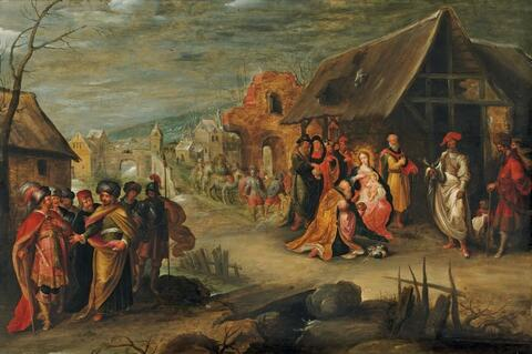 Frans Francken the Younger and workshop - ADORATION OF THE MAGI