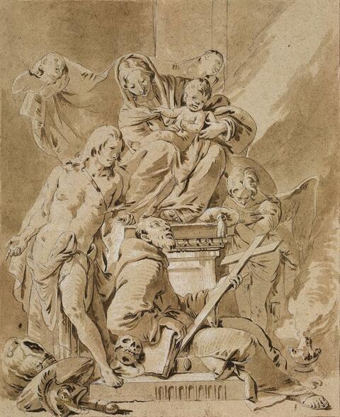 Giovanni Battista Tiepolo, Umkreis - MADONNA MIT DEN HEILIGEN SEBASTIAN UND ANTONIUS