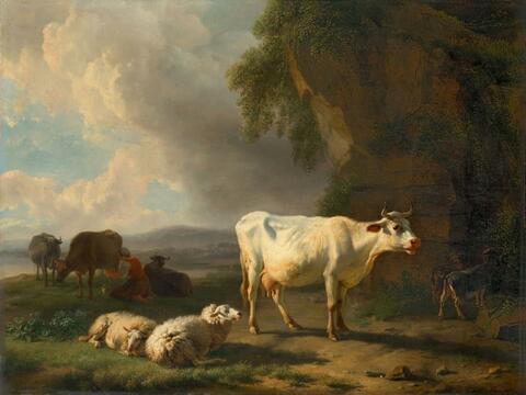 Balthasar Paul Ommeganck - LANDSCHAFT MIT VIEHHERDE