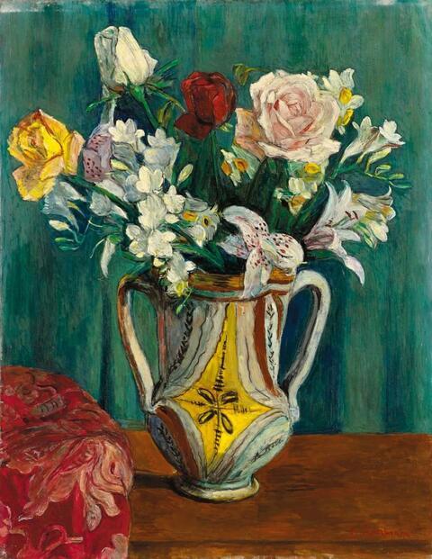 Hans Purrmann - Stilleben mit Rosen (Still-Life with Roses)