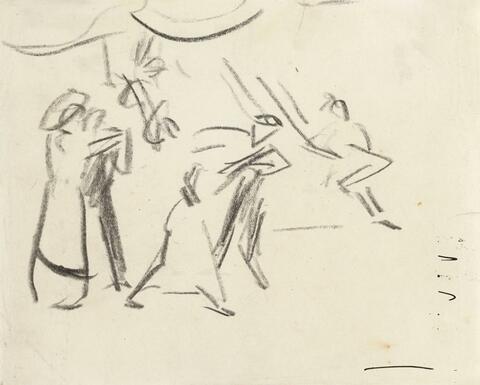 Ernst Ludwig Kirchner - Tanzszene - Tanzende im Eldorado (Dancing Scene - Dancing Couples in the Eldorado)