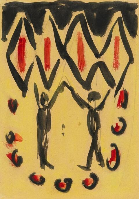 Ernst Ludwig Kirchner - Tanzpaar (Dancing Couple)