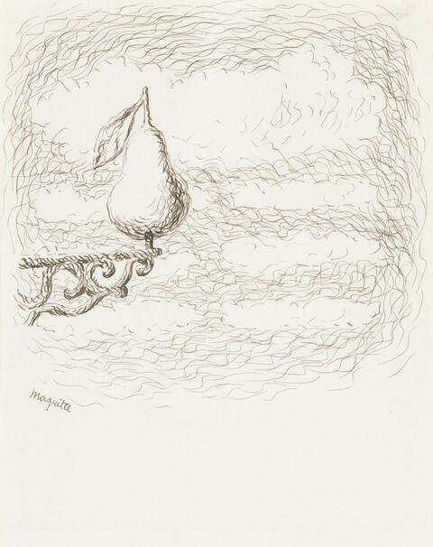 René Magritte - Ohne Titel (Poire)