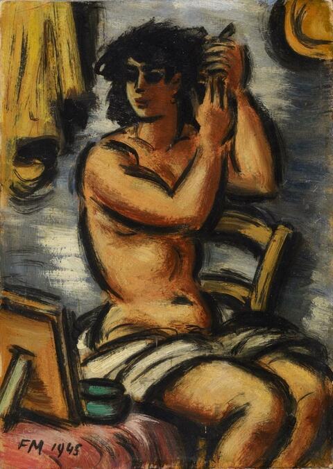 Frans Masereel - Femme se coiffant
