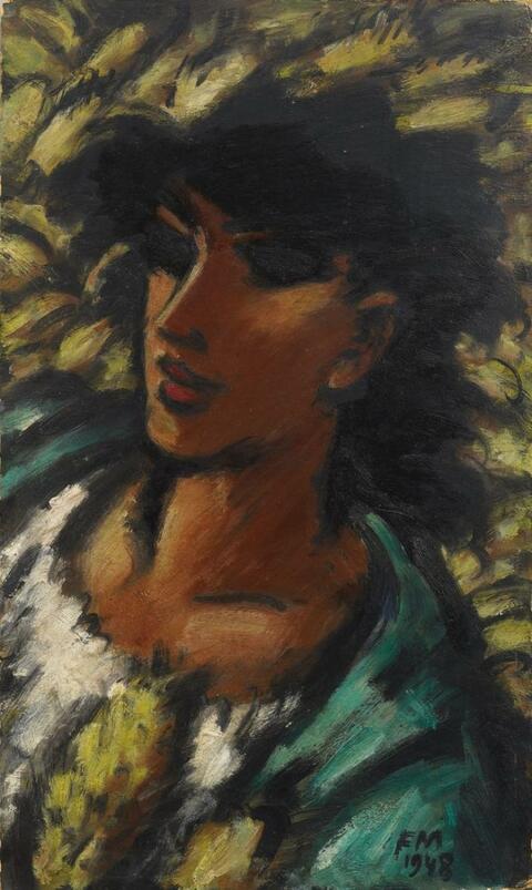 Frans Masereel - Tête de Femme brune