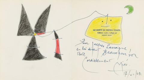 Joan Miró - Le Goût de notre Temps