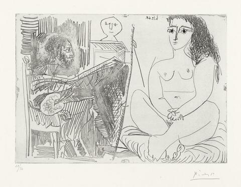 Pablo Picasso - Peintre et Modèle. III