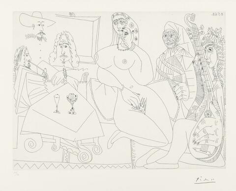 Pablo Picasso - Collation en Musique chez La Célestine