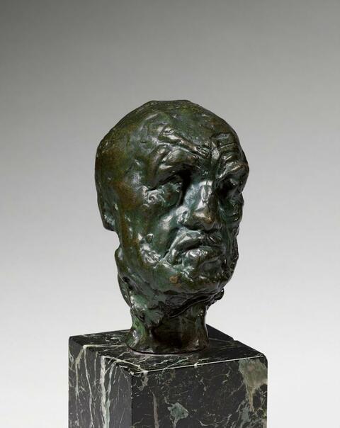 Auguste Rodin - L'Homme au nez cassé, petite tête