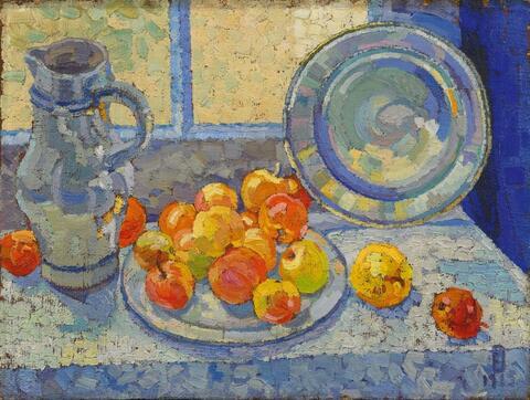 Eberhard Viegener - Krug mit Früchten und Zinnteller