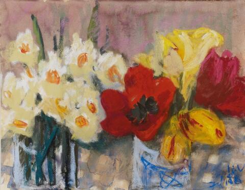 Klaus Fußmann - Untitled (Flower still life)