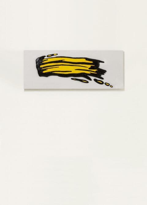 Roy Lichtenstein - Pinselstrich schwarz-gelb