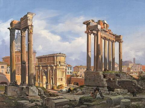Italienischer Künstler des 19. Jahrhunderts - DAS FORUM ROMANUM