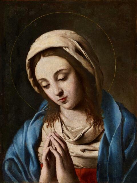 Giovanni Battista Salvi, called Il Sassoferrato, attributed to - THE VIRGIN IN PRAYER