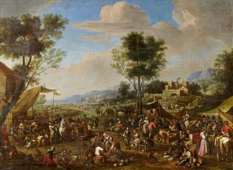 Italienischer Meister des 17. Jahrhunderts - MARKTSZENE