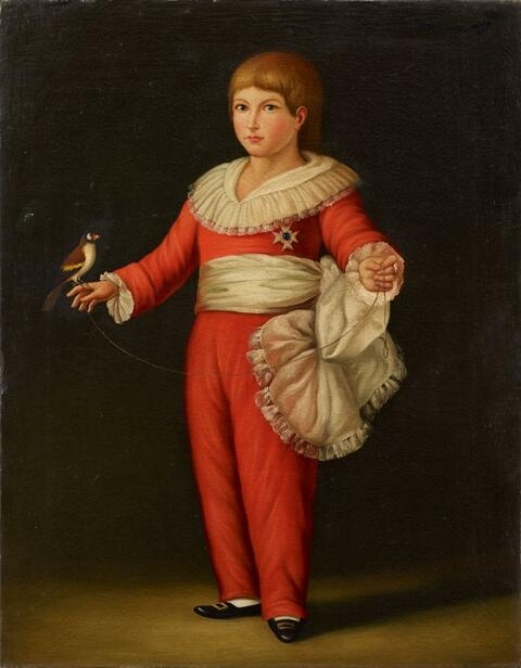 Spanish School, around 1800 - PORTRAIT OF A BOY (FRANCISCO DE PAULA DE BORBÓN)