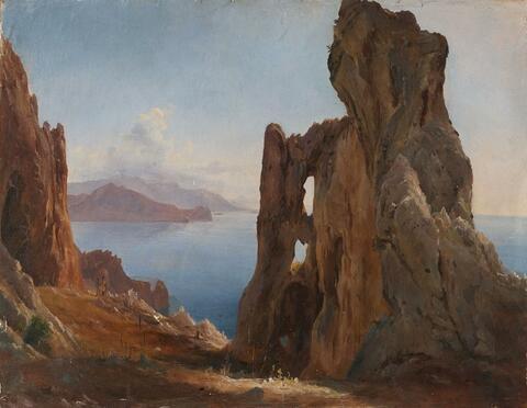 Oswald Achenbach - VIEW OF CAPRI